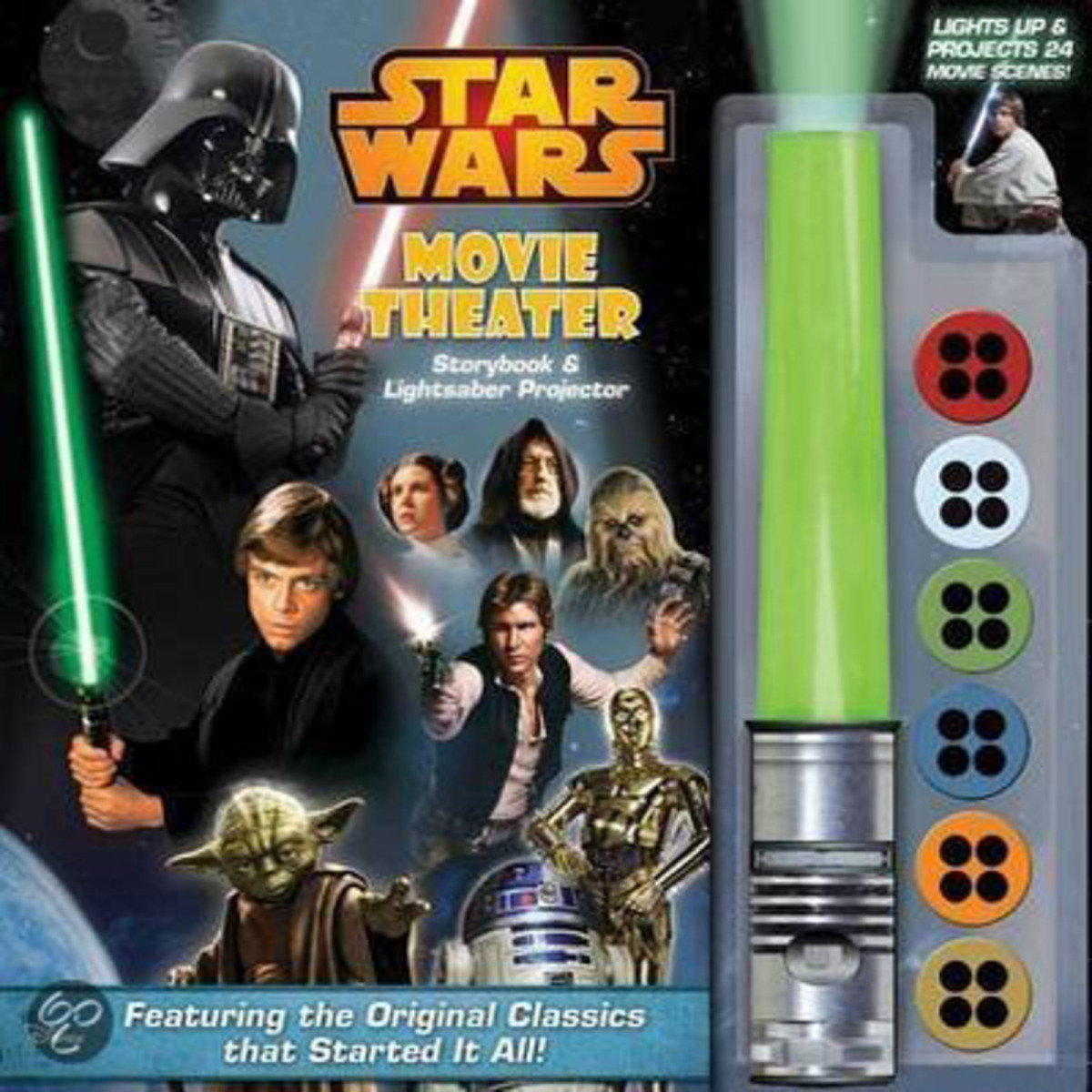 Star Wars Movie Theater Storybook & Lightsaber Projector 9780794434946