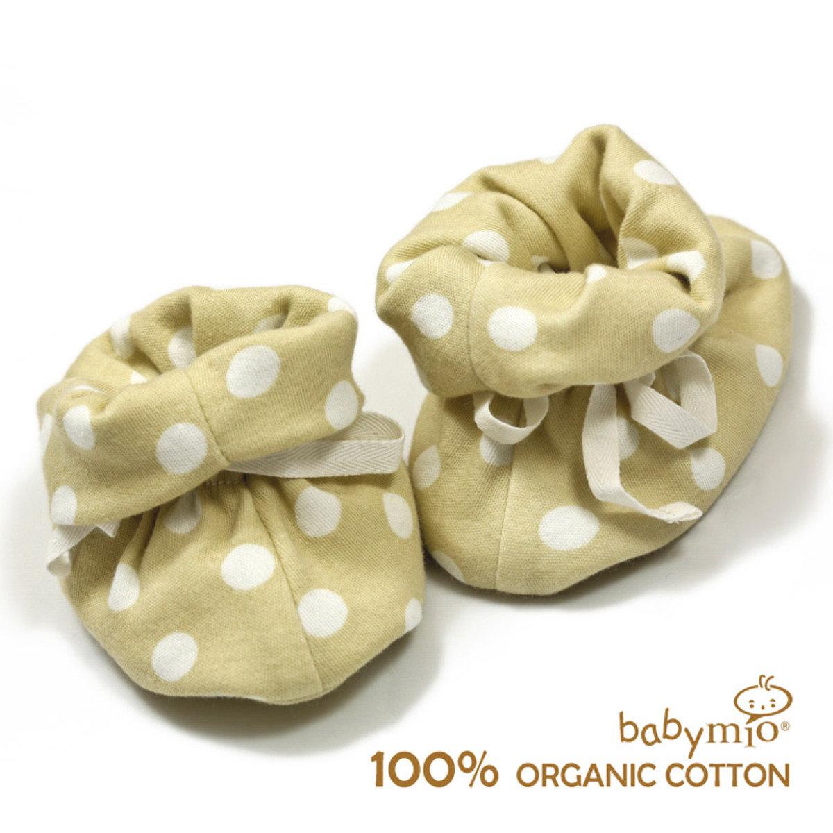 有機棉嬰兒點點小包鞋 / 腳套