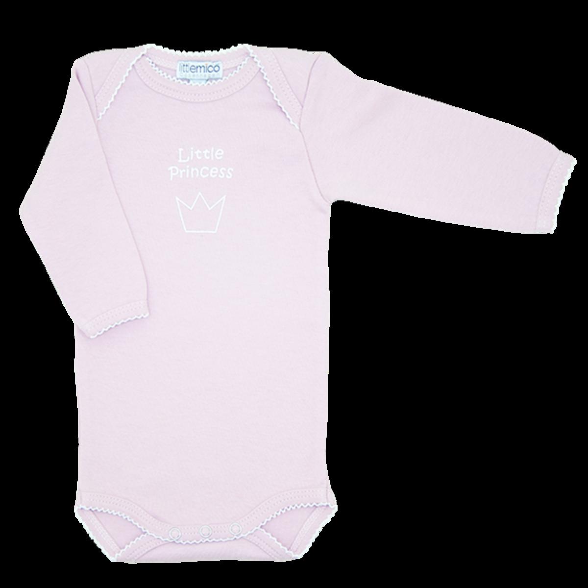 有機棉長袖夾衣 - 小公主 0-3M (粉紅色)