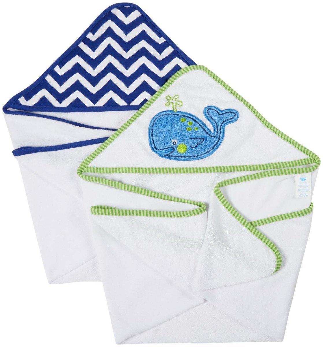 小鯨魚浴巾 (2條裝)