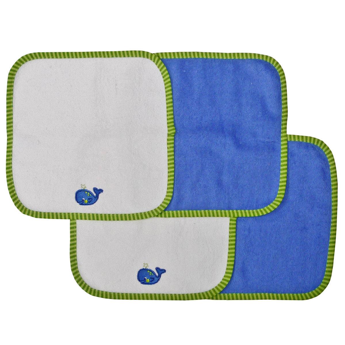 小鯨魚小浴巾 (4條裝)