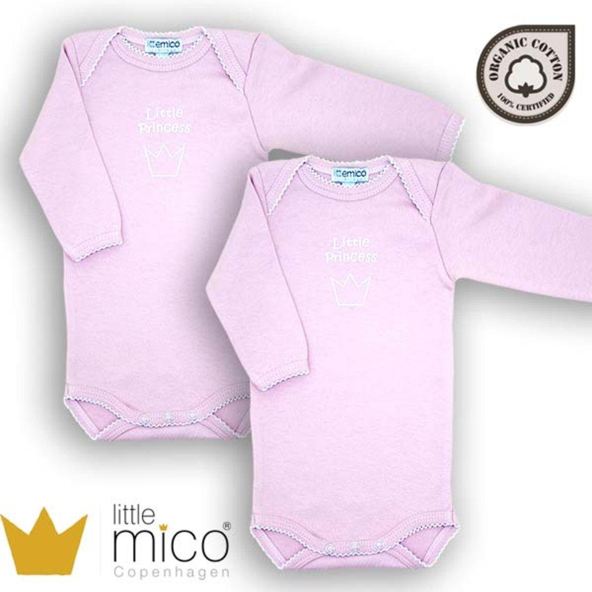 有機棉長袖夾衣 - 小公主 (粉紅色) - 2件裝