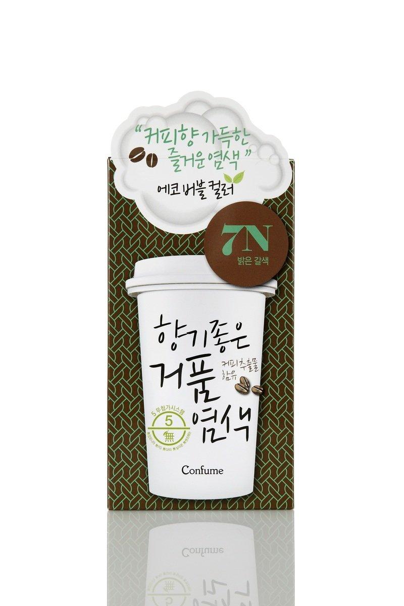 咖啡香氣泡沫染髮 7N 咖啡色