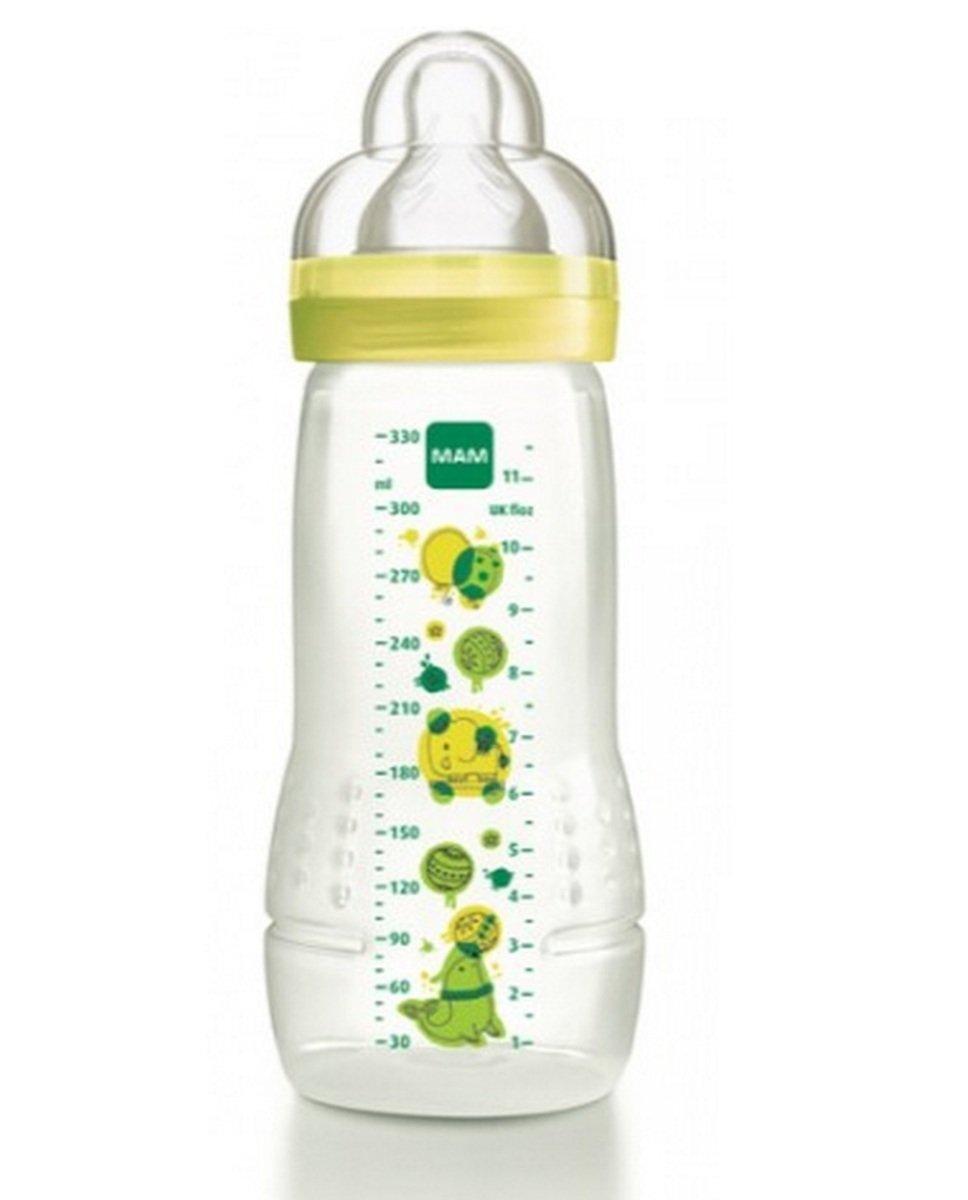 好易喝奶瓶330ml-黃色