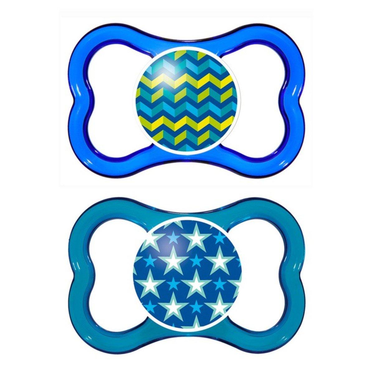 透氣型絲感安撫奶嘴(雙只)-藍色