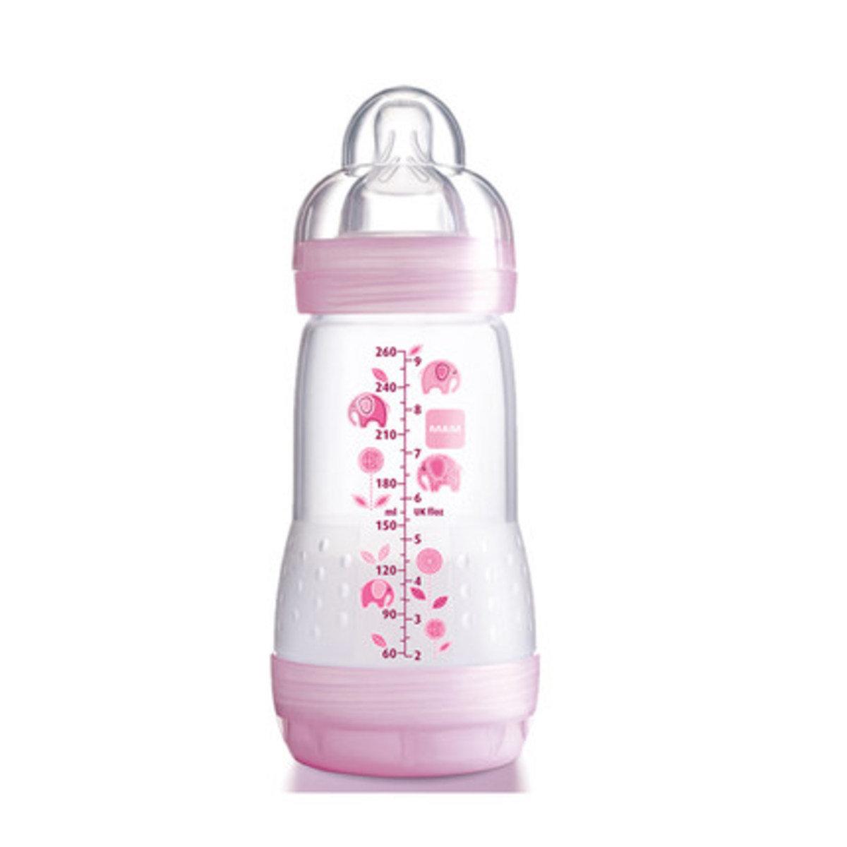 防脹氣奶瓶260ml-粉紅