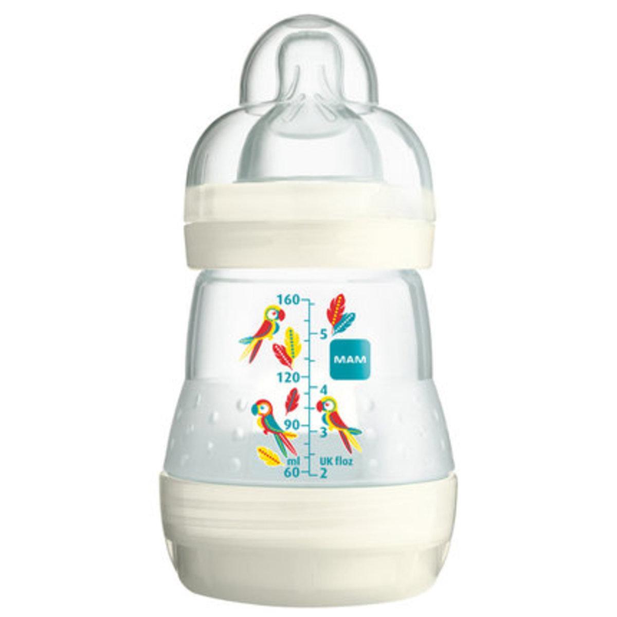 防脹氣奶瓶160ml-米白色