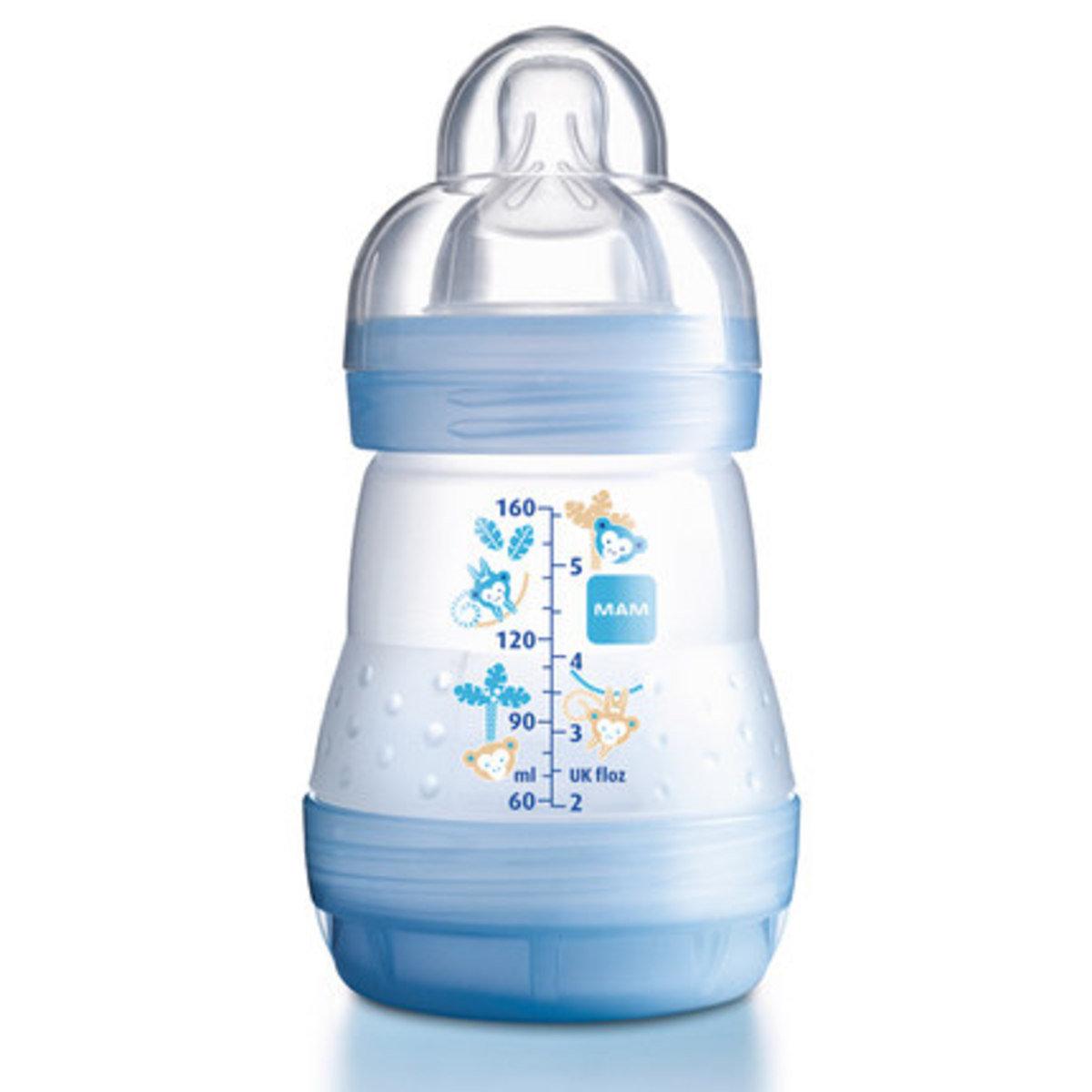 防脹氣奶瓶160ml-藍色