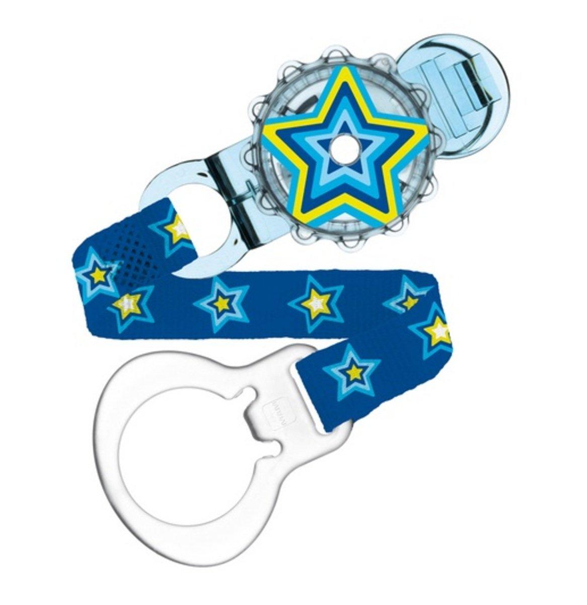 旋轉安撫奶嘴夾-藍色星星