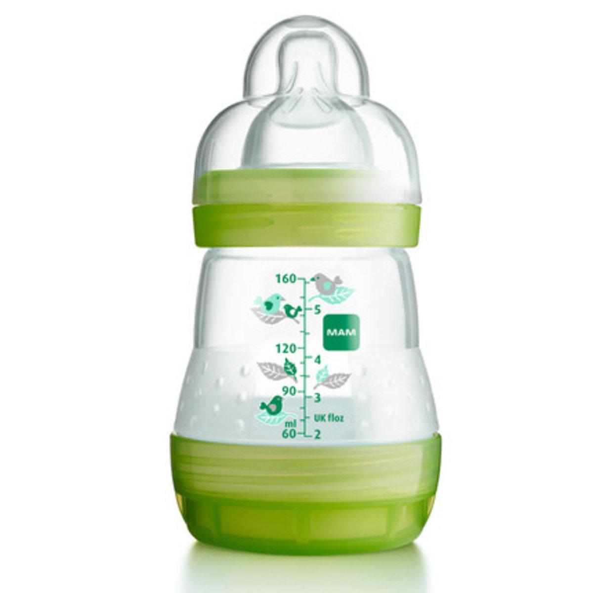 防脹氣奶瓶160ml-綠色