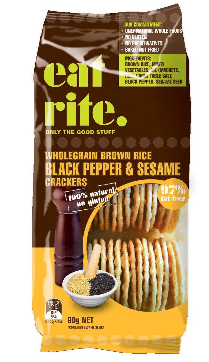 全麥糙米黑胡椒和芝麻餅乾