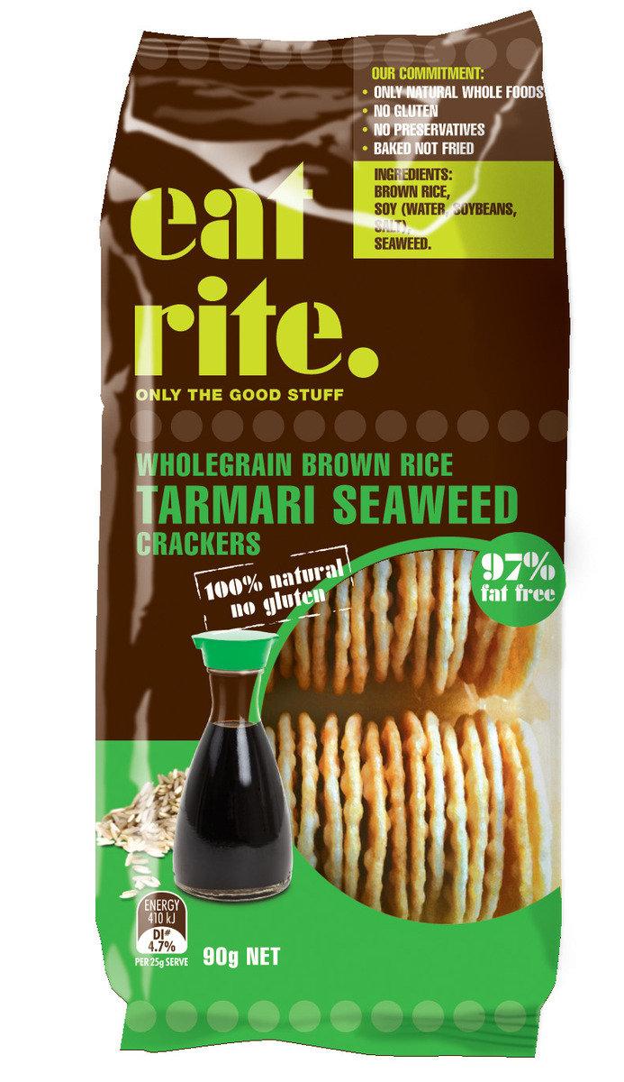 全麥糙米醬油海藻薄脆餅乾