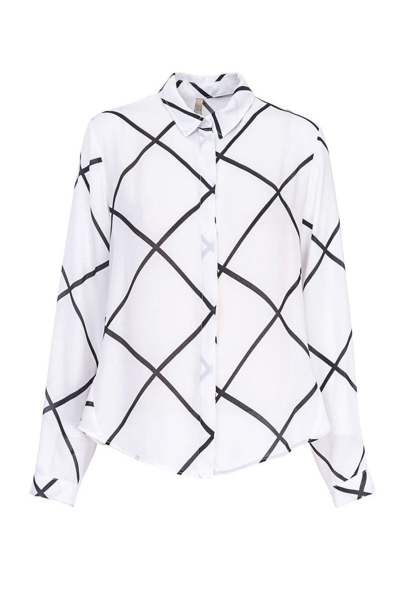 大菱形格長袖衫