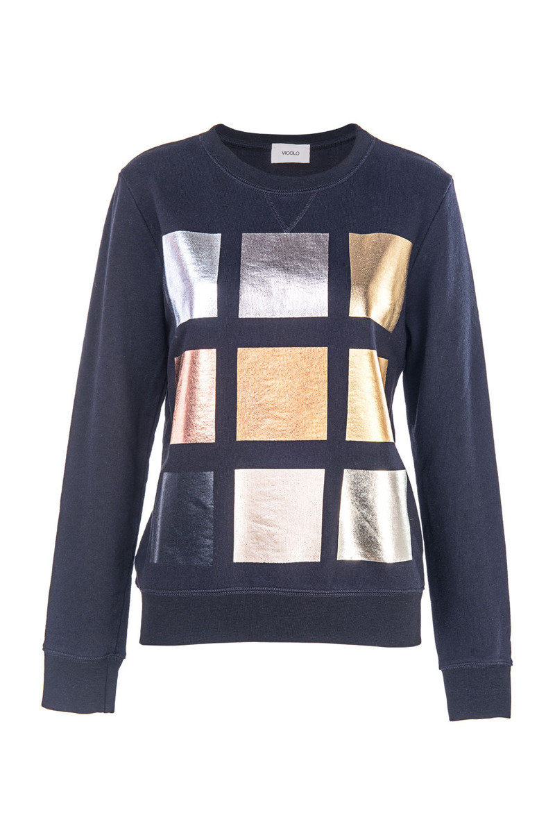 金屬格子熨畫衛衣