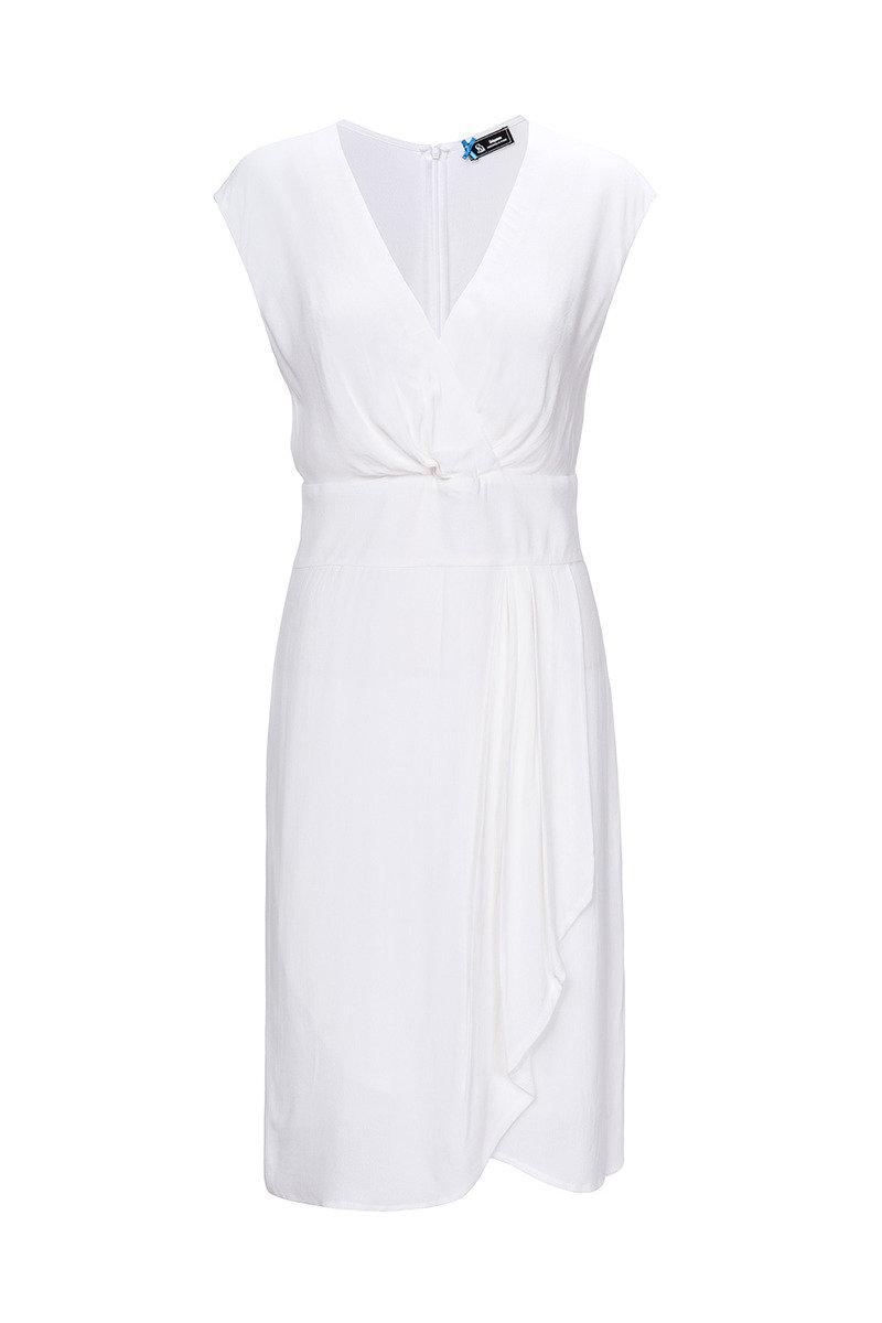 雙層V領連身裙