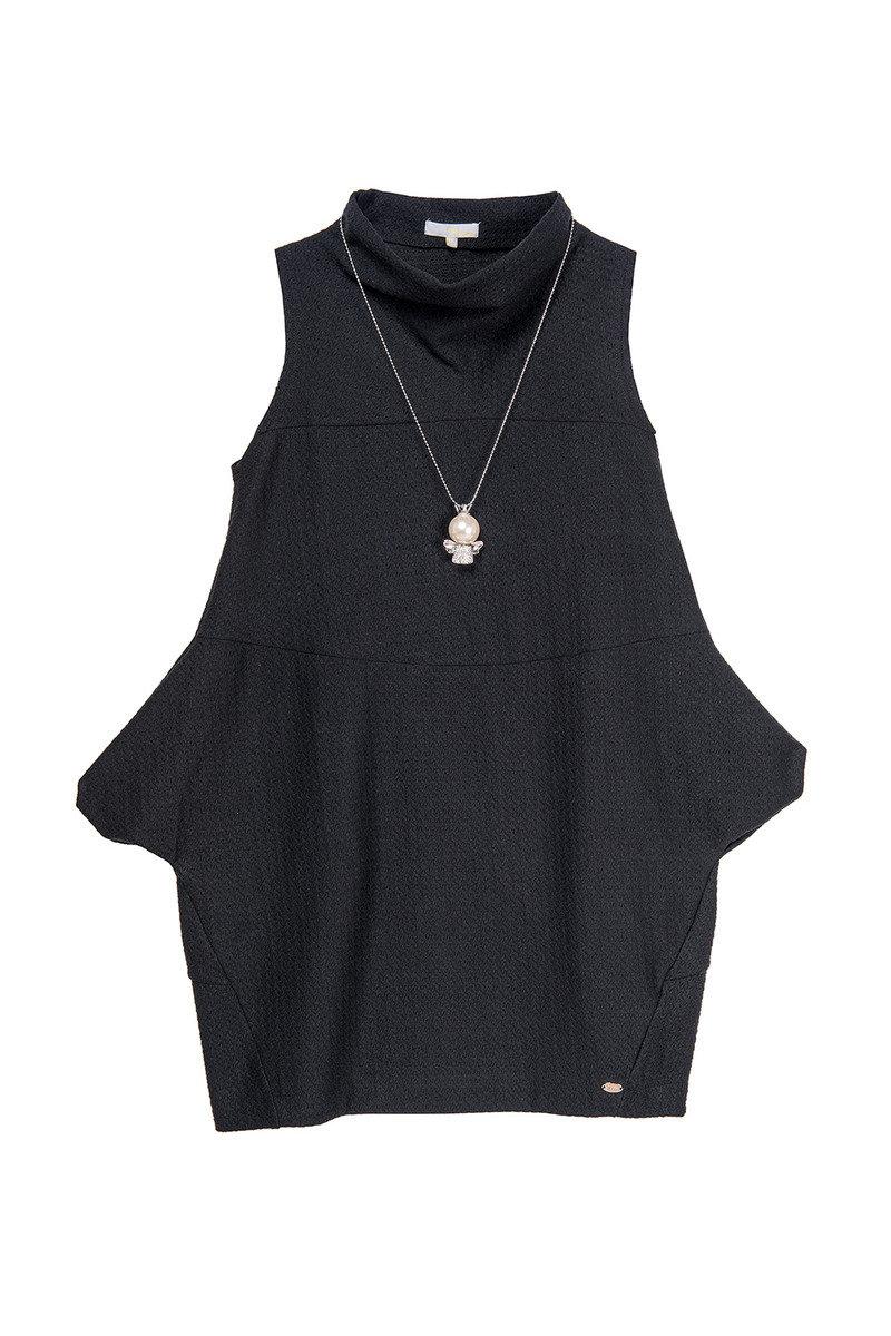 繭型連衣裙連頸鏈