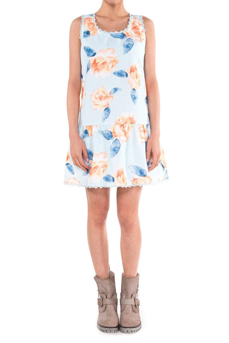 大花圖案連身裙