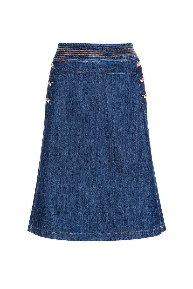 A型复古牛仔裙