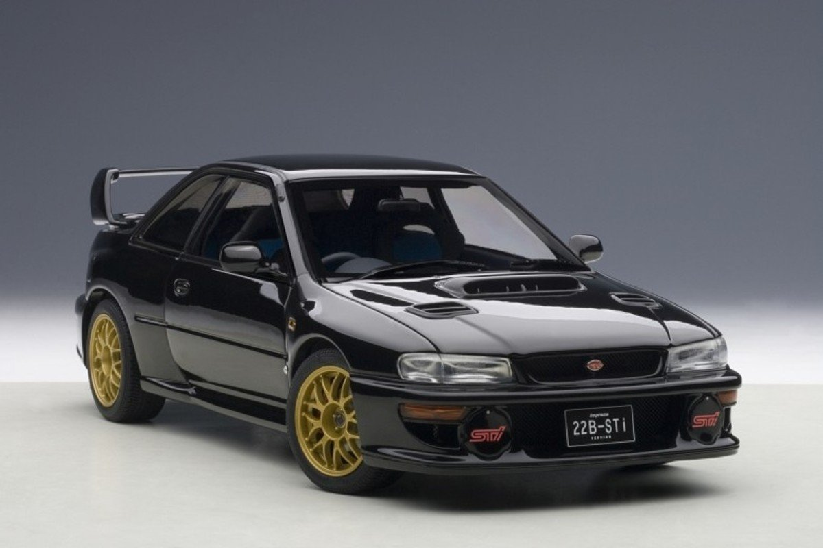 1/18 Subaru Impreza 22B-Sti Version (Black)(Upgraded Version)