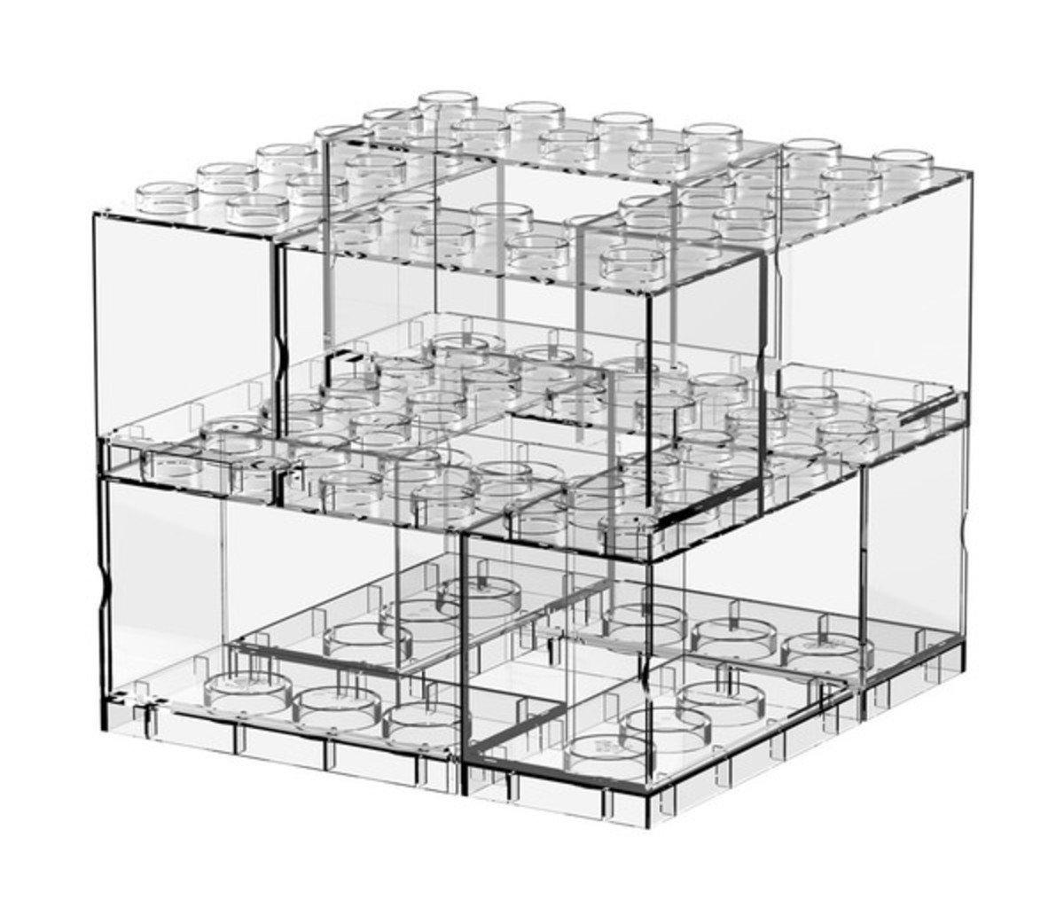 T-Brick Deckable Display Case 8 in 1
