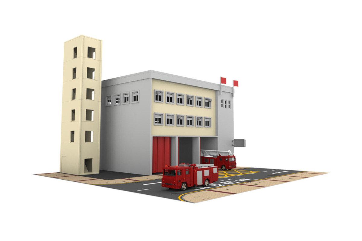 TINY 城市 PS1消防局連消防車玩具套裝