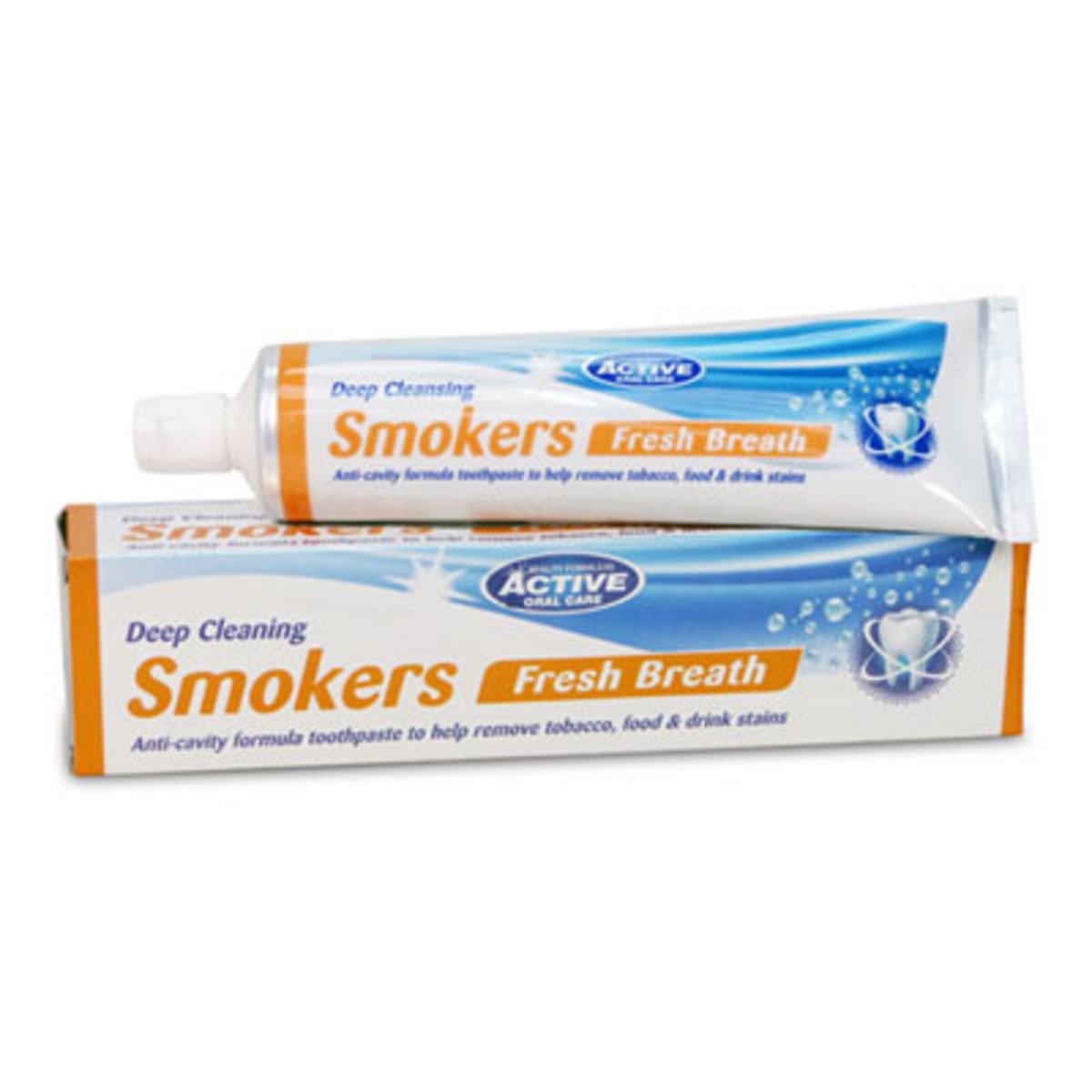 吸煙者口氣清新牙膏