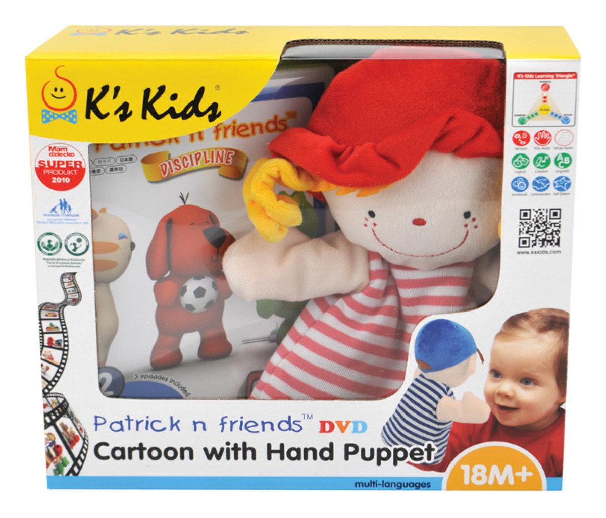 KC91104-Patrick n Friends DVD Cartoon with Hand Puppet - Julia