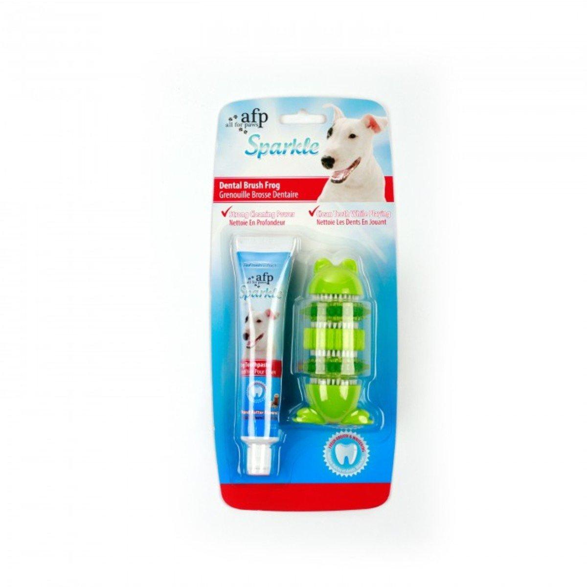 刷牙玩具連牙膏套裝 - 青蛙