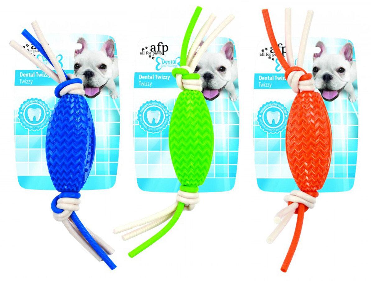 雞肉味潔齒玩具 - 扭繩+潔齒橄欖球