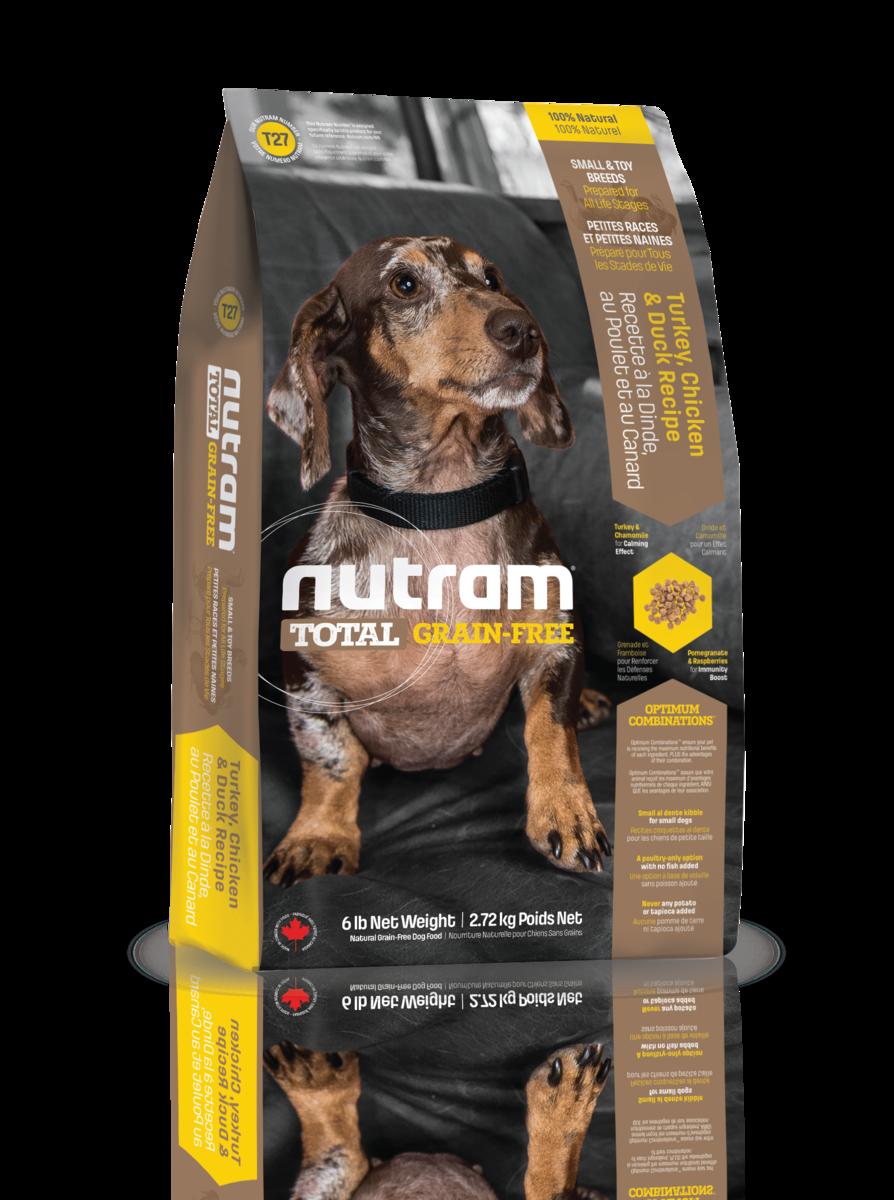 Nutram 無薯無穀糧小型犬 (雞+火雞+鴨) 2.72kg