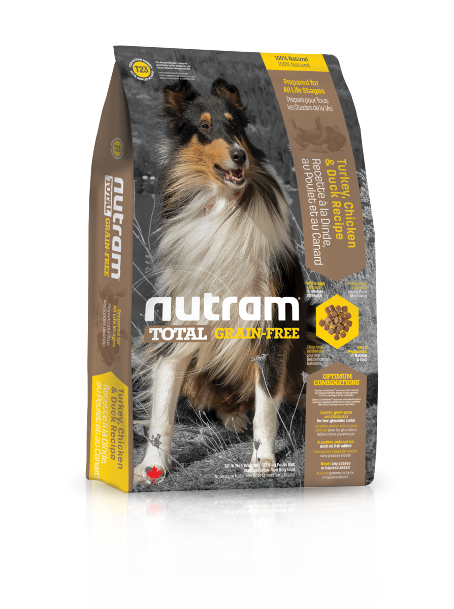 Nutram 無薯無穀糧中型犬 (雞+火雞+鴨) 2.72kg