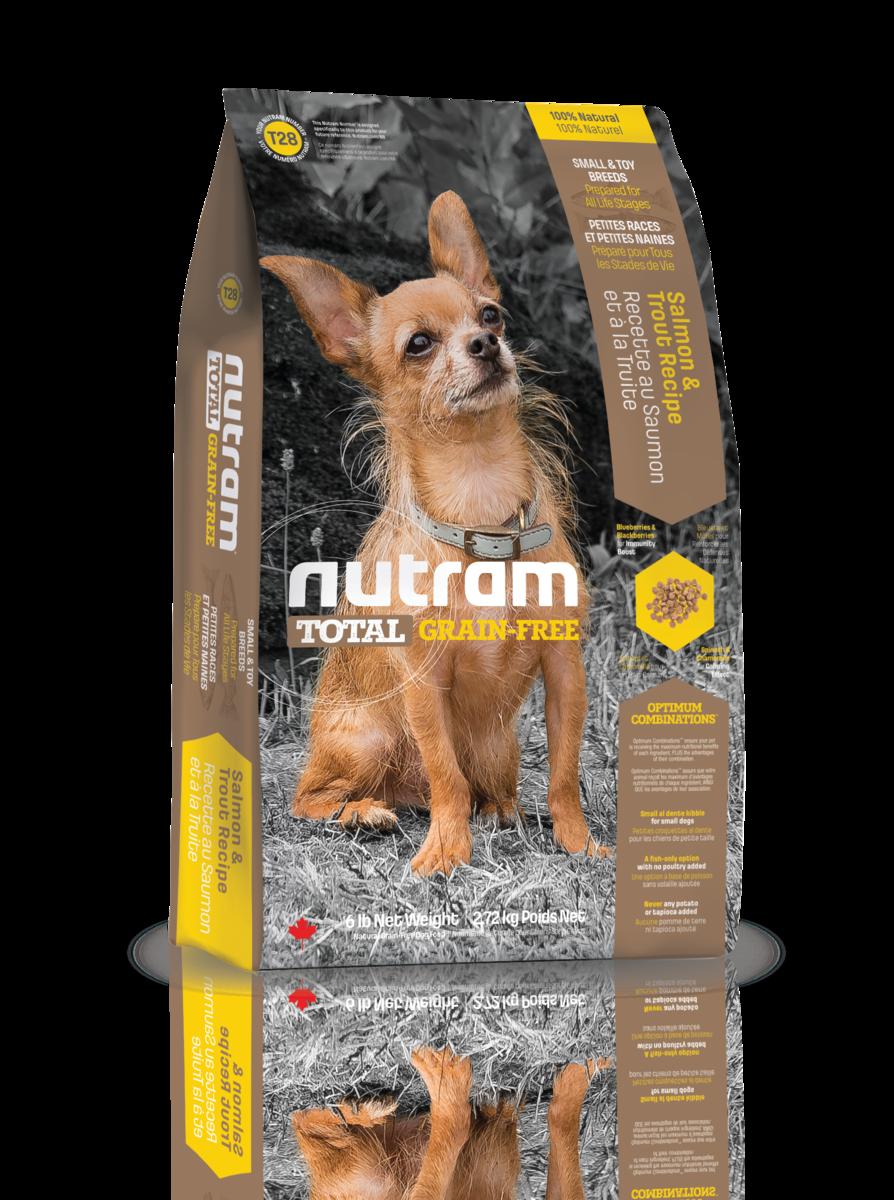 Nutram 無薯無穀糧小型犬 (三文魚+鱒魚)  2.72kg