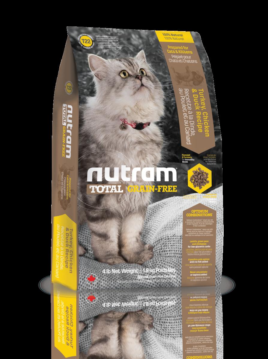 Nutram 無薯無穀糧全貓糧 (雞+火雞) 1.8kg