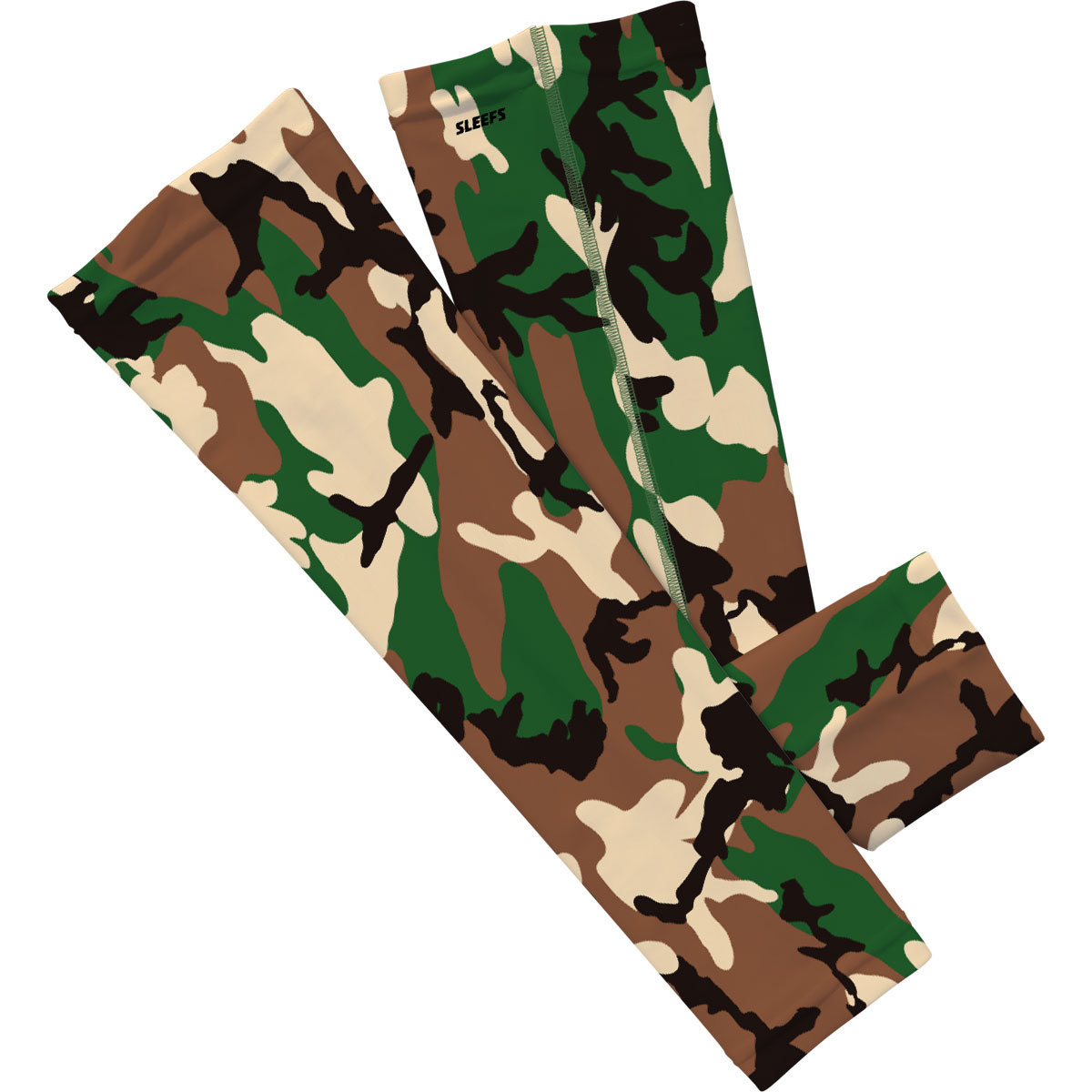 Camo Woodland Arm Sleeve-SL-CAMOW