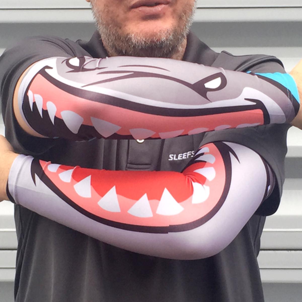 Shark Bike Arm Sleeves-SL-SHRKBT