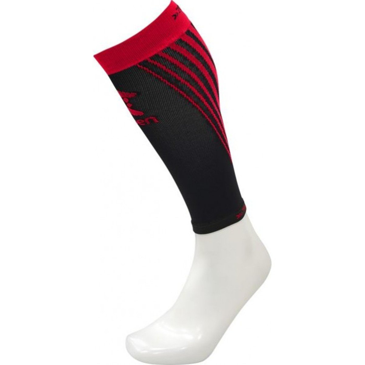 西班牙跑步壓力腳套 Men's Compression Calf Sleeve, Black/Red M