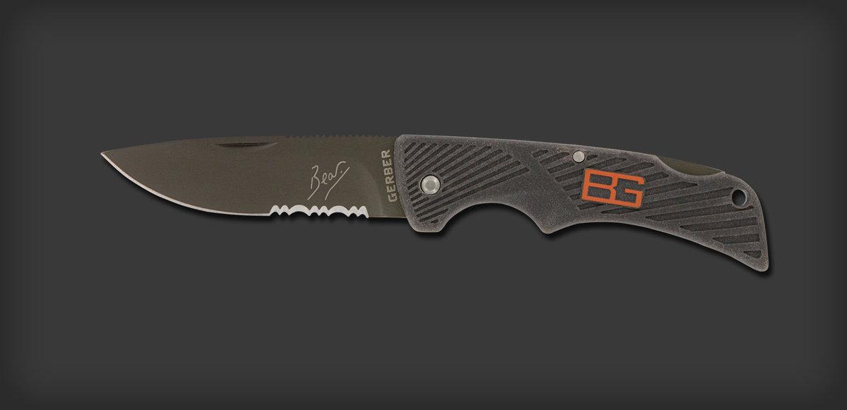 美國多用途刀具 - Bear Grylls Survival Series, Compact Scout folding knife (Lock Back Version)