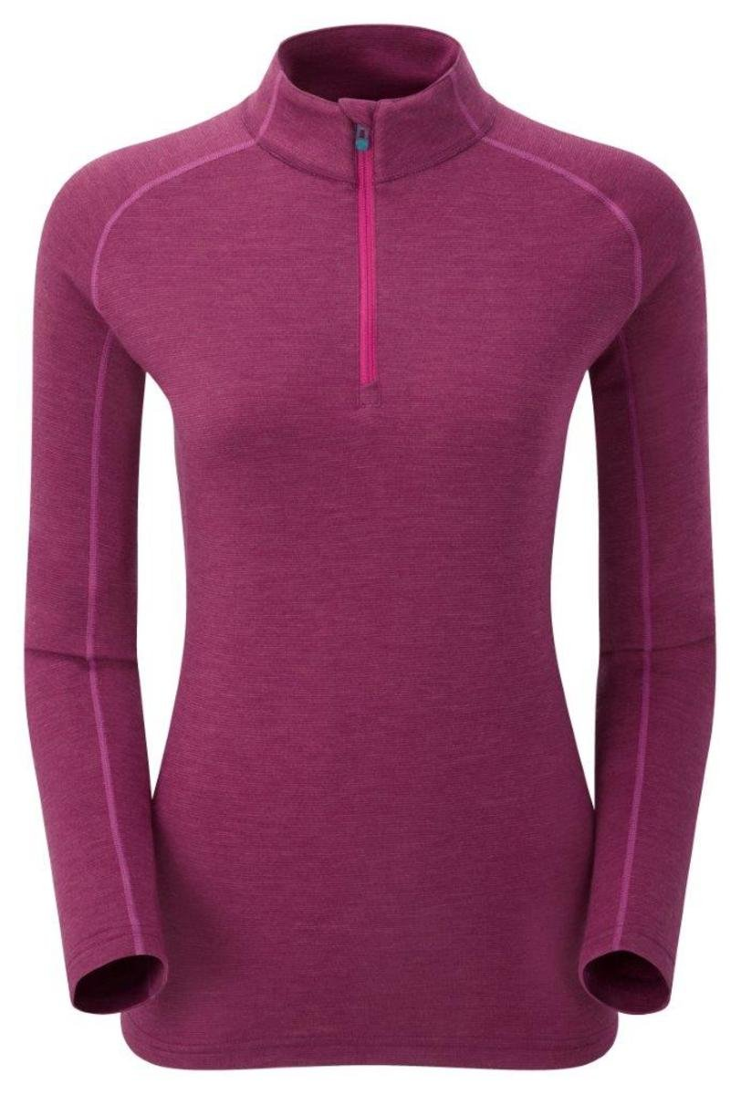 英國女裝 Primino® 長袖加厚保暖內衣 - Fem Primino 220 Zip Neck L/S Dahlia EW UK10