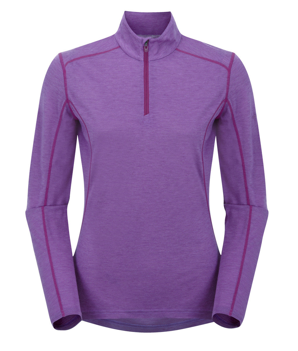 英國女裝 Primino® 長袖保暖內衣 - FEM PRIMINO 140 ZIP NECK-DAHLIA-UK12/US10/EUR38