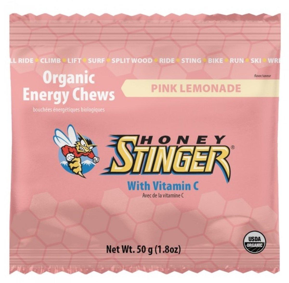 美國蜂蜜能量食品 - Energy Chews 12 Pink Lemonade - 6小包