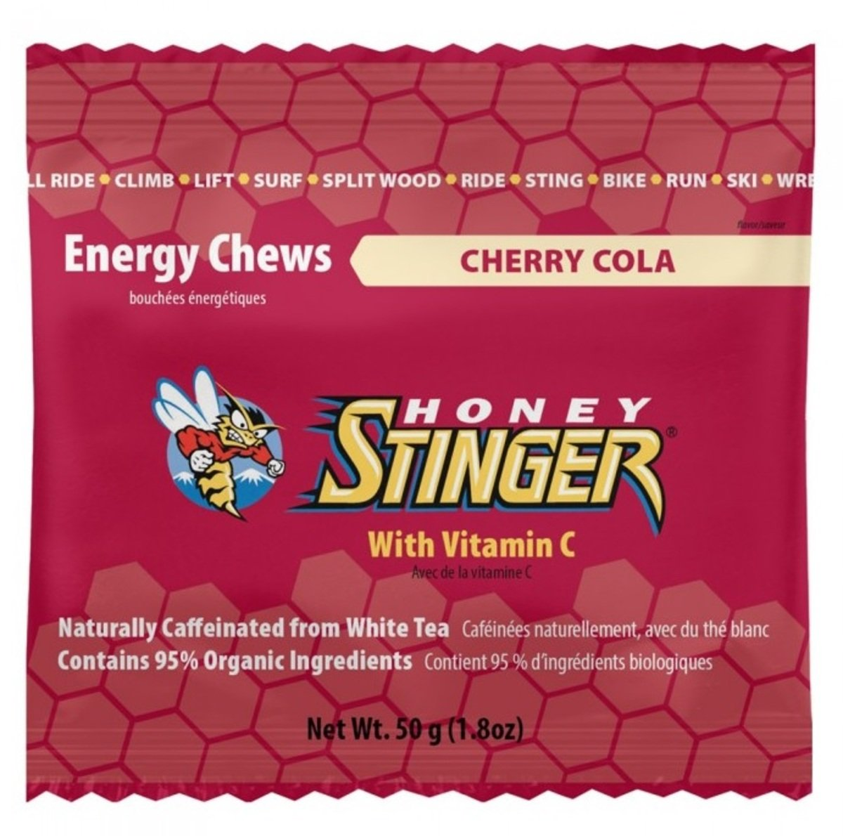 美國蜂蜜能量食品 - Energy Chews 12 Cherry Cola- Caff. - 6小包