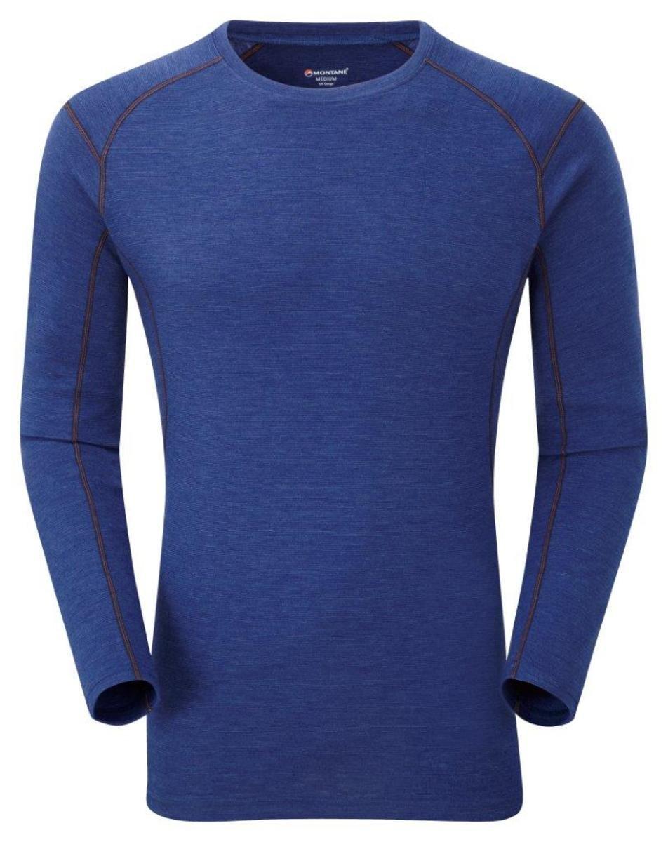 英國男裝 Primino® 長袖加厚保暖內衣 - Primino 220 Crew L/S Antarctic Blue EW S