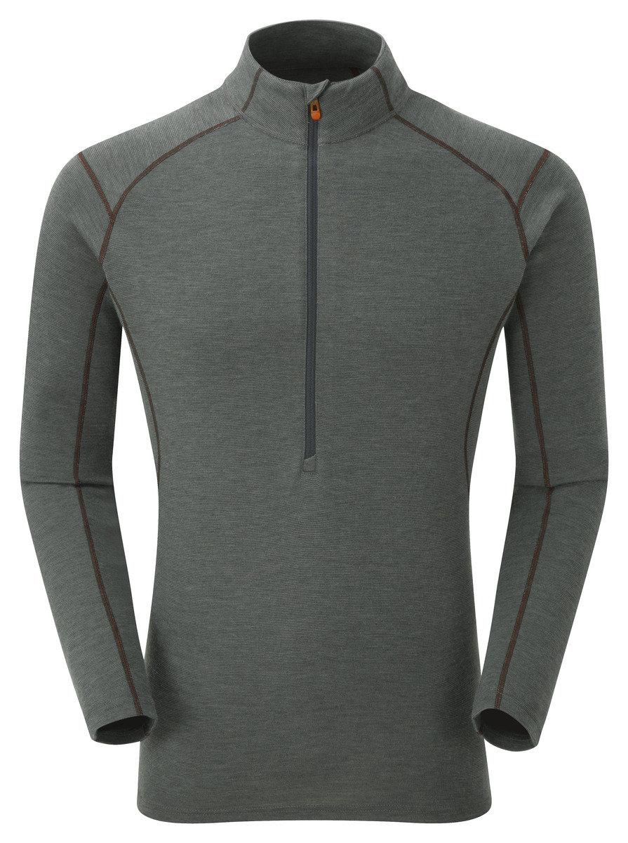 英國男裝 Primino® 長袖加厚保暖內衣 - Primino 220 Zip Neck Shadow EW M