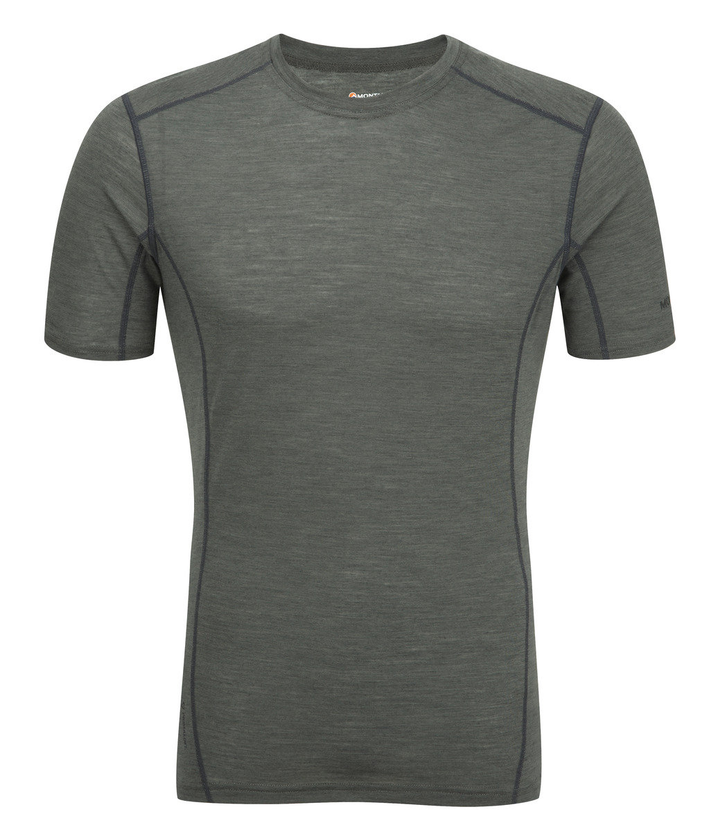 英國男裝 Primino® 短袖保暖內衣 - PRIMINO 140 CREW NECK-SHADOW-L