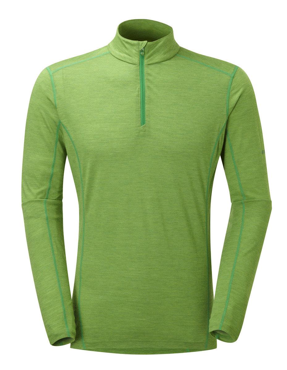 英國男裝 Primino® 長袖保暖內衣 - PRIMINO 140 ZIP NECK-AURORA GREEN-S