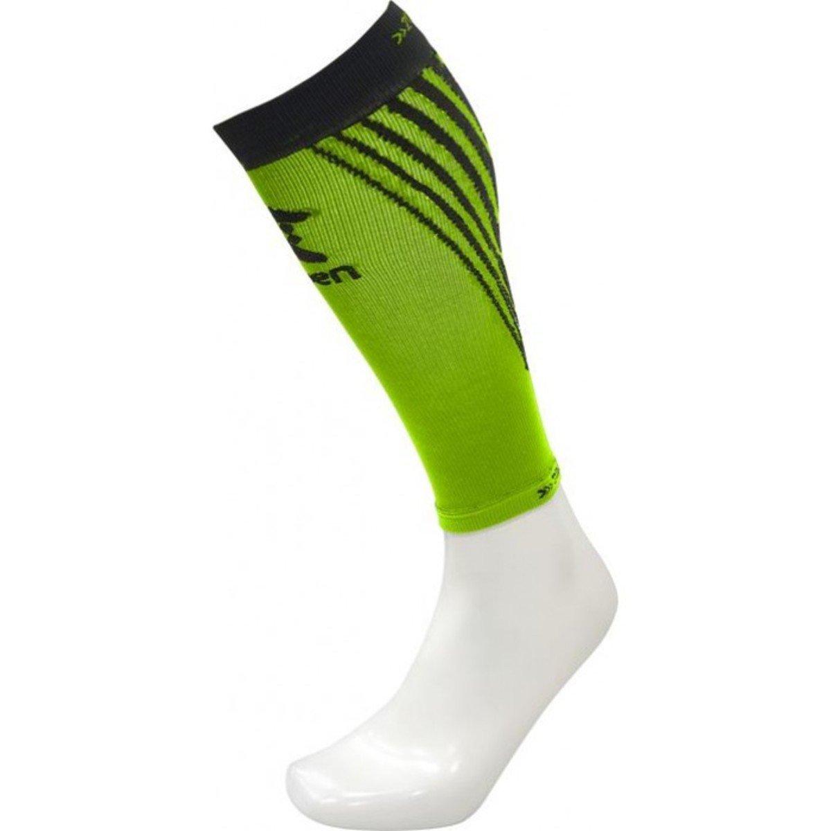 西班牙跑步壓力腳套 Men's Compression Calf Sleeve, Bright Green/Black M