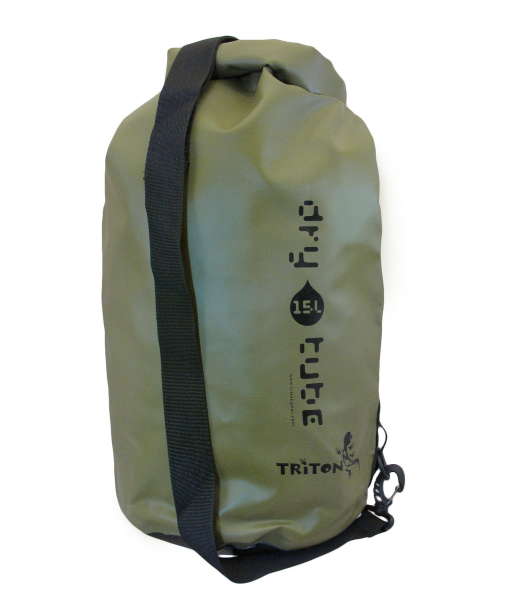 Triton 隨身優質防水袋 Dry Tube 15L olive