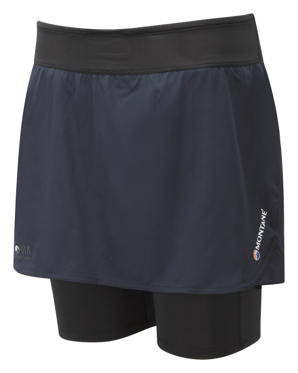 英國吸汗快乾緊身跑褲 FEM TRAIL 2SK SKORT-BLACK-UK8/US6/EUR34
