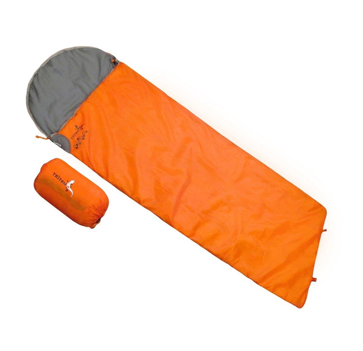 優質空心綿 8 度睡袋 - Junior Square 橙/灰