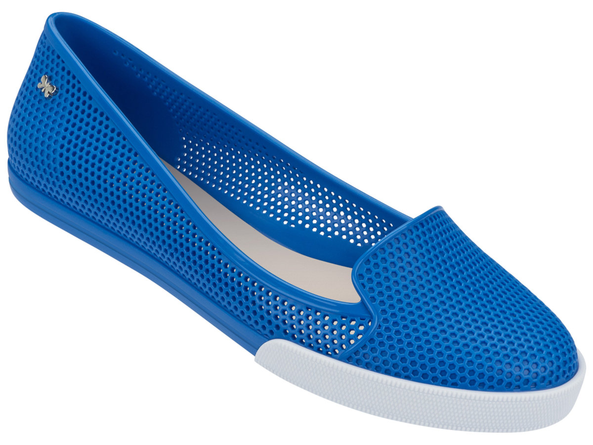 純色悠閒Slip-on - 藍色
